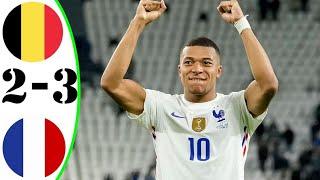 Бельгия vs Франция 2 3 Обзор Матча Опасные Моменты и Голы 2021 HD Лига Наций Полуфинал
