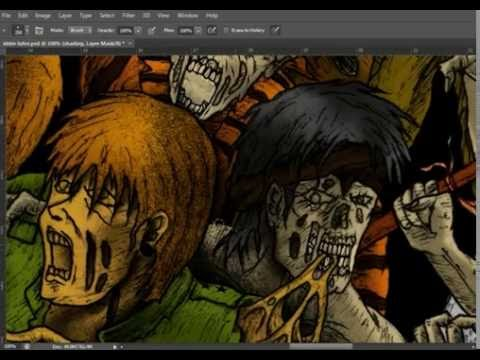 bapung death art  X indonesian death metal artwork coloring process