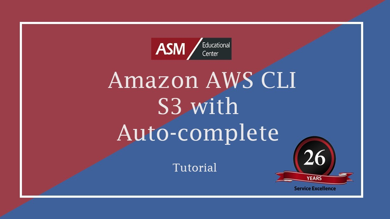 Amazon AWS CLI S3 with auto-complete - YouTube