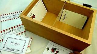 "Wood Acrylic Recipe Box 3"" X 5"" Recipe Box 4"" X 6'"