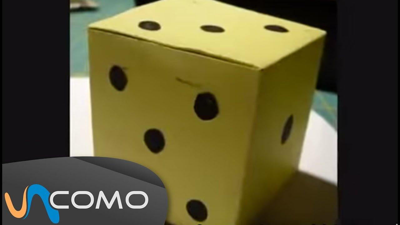 Cubo de papel o cartón - Dado - YouTube