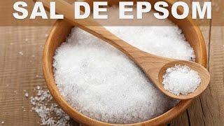 De epsom edema salt sal baño