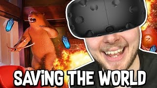 SAVING THE WORLD!! - I EXPECT YOU TO DIE!! [Ending] (HTC Vive)
