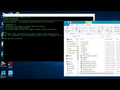 How to Remove Shortcut Virus on your Flash Drive (Easiest Way)