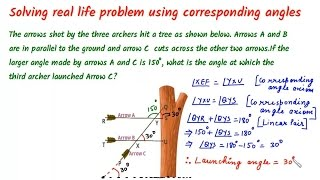 Parallel Lines and Transversal - Corresponding Angles - Real Life Application Question