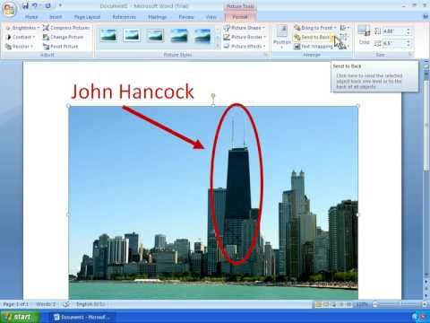 how to move a picture in word 2007