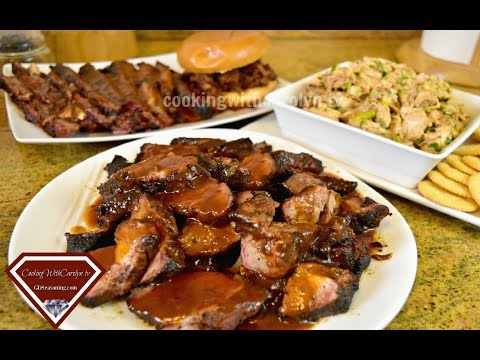 BBQ Country Style Ribs, BBQ Brisket & BBQ Chicken Recipes -TAILGATING Recipes |Cooking With Carolyn