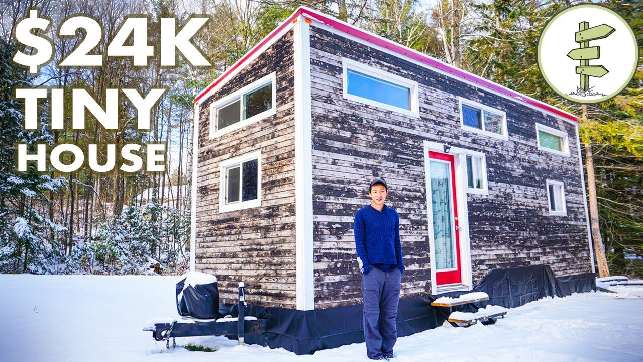 young-man-builds-24k-tiny-house-winter-living-experience-tour