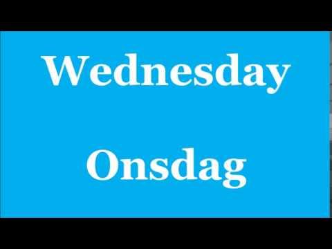 dagar på engelska