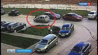 В Уфе нарушитель ПДД прокатил мужчину на капоте