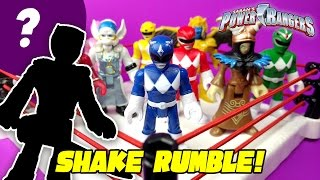 Imaginext Power Rangers Shake Rumble Match with Power Rangers Toys Unboxing!