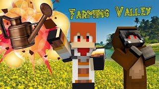 Minecraft : Farming Valley Ft. Zeroz #8 สำรวจถ้ำมืดกับไก่ดำมรณะ