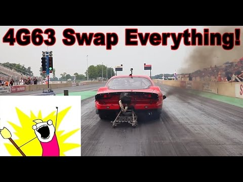 4g63 Swap Everything Rx7 Mustang Bmw Dragstar Youtube