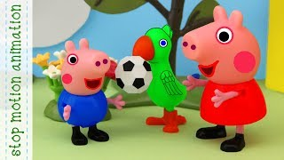 Assistant Polly Peppa Pig tv stop motion animation in english