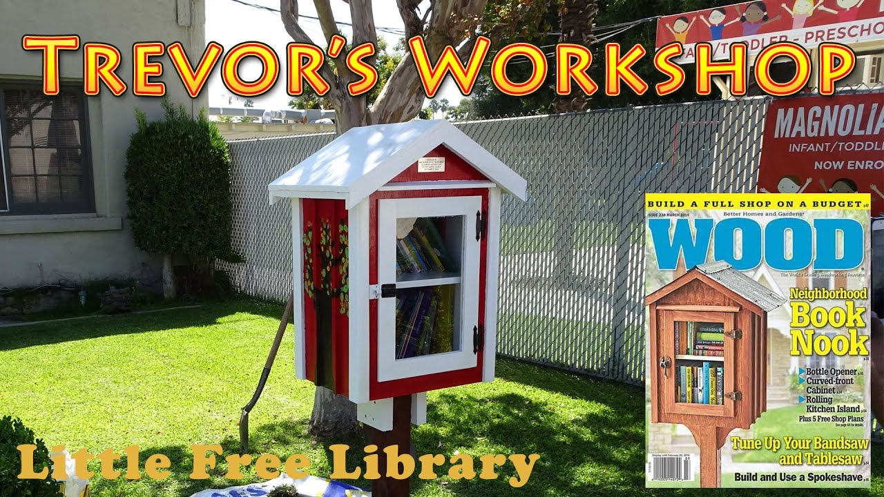 Building the wood magazine little free library wood 238 for Build a home online free