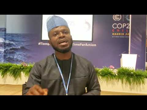 Interview with a Nigerian observer at COP25