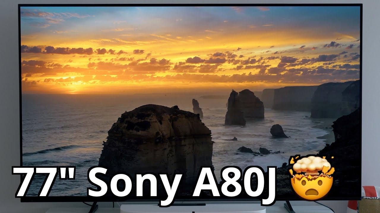 """77"""" Sony A80J 4K OLED Test Fazit nach zwei Wochen!"""