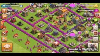 Nosso Primeiro Vídeo (Clash of Clans ) Minha vila e tbm um Ataque