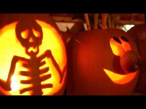 Déco Halloween   Sculpture De Citrouille   YouTube