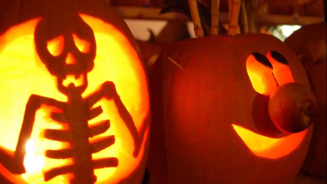D co halloween sculpture de citrouille youtube - Tete de citrouille pour halloween ...