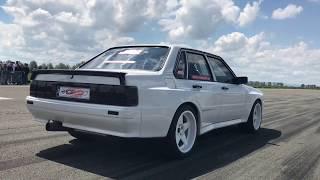 Audi Sport Quattro Limo 1111hp Test runs Half Mile 20.05.2017