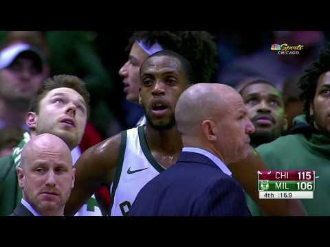 Chicago Bulls vs Milwaukee Bucks Technical Fouls and Ejections
