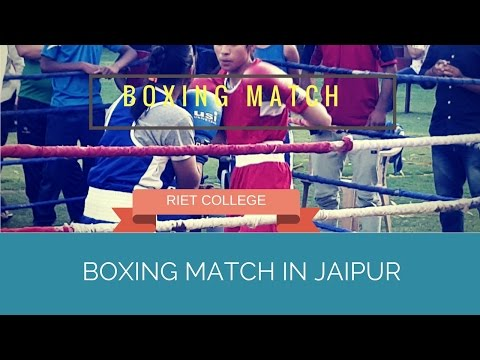 Girl Boxing match in jaipur RIET COLLEGE sport#21
