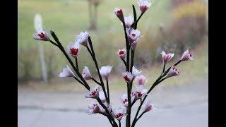 DIY Frühlingsdeko einfach gemacht,Blüten aus Krepp-Papier / Spring blossom from crepe paper