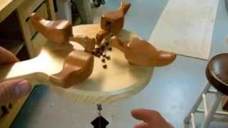 Woodworking: Pecking Chickens