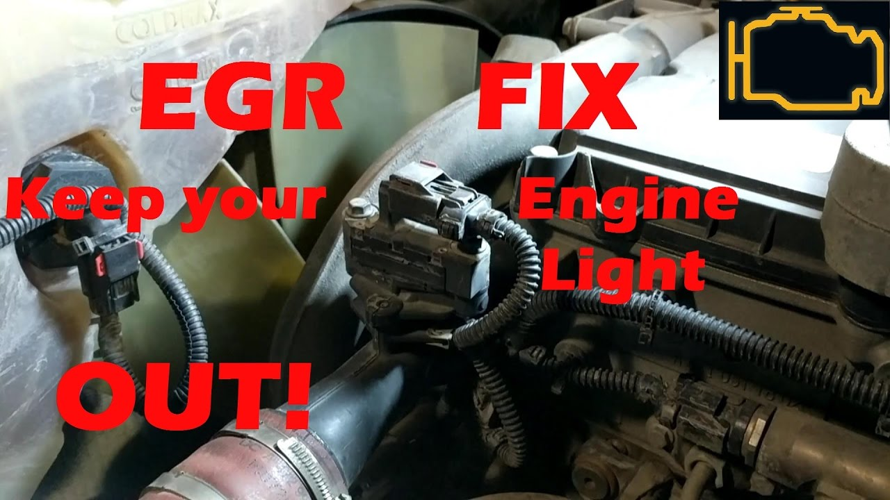 Egr Quick Fix Keep That Engine Light Out Youtube