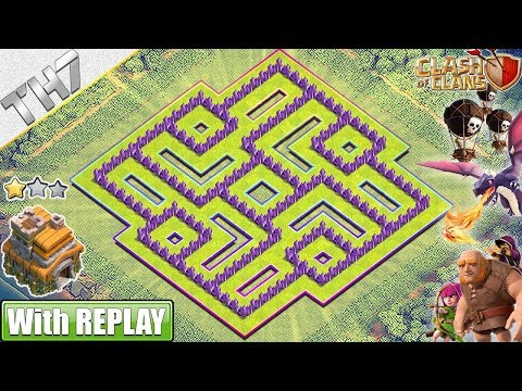 NEW BEST TH7 Base (FARMING/TROPHY) 2019 With REPLAY!! Town Hall 7 Base Anti Dragons - Clash Of Clans