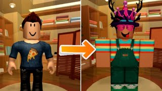 My ROBLOX avatar evolution