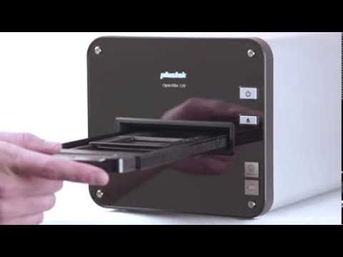Plustek Support: OpticFilm 120 - How to load and eject the film holder