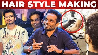 Thalapathy Vijay's Favourite Hair Cut – Hair Stylist Rajesh Reveals | RS