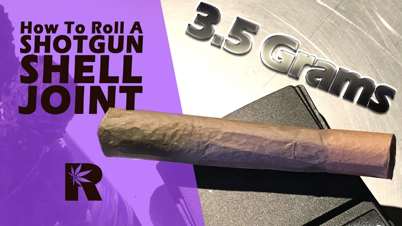 How To Roll A King Size Shotgun Shell Joint (1/8 oz ...