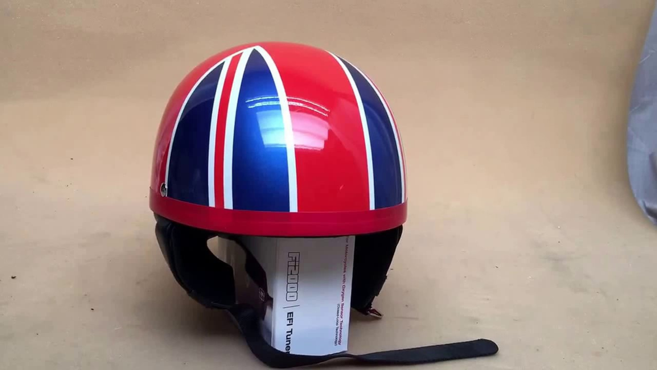 Motorcycle Tt Racer Helmet Pudding Basin Style Fibregl Dot Roved Www Customcruisers