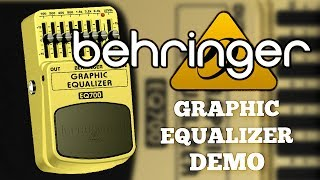 Behringer EQ700 Graphic Equalizer Demo