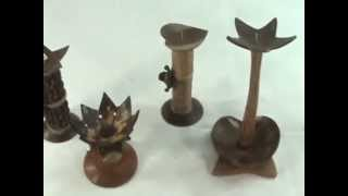 Bali Handcrafted Merchandize Coconut Shell Candleholder Wholesalesarong.com