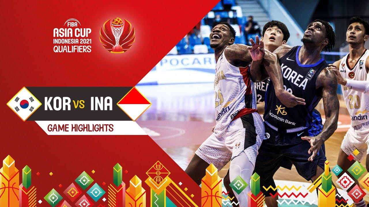 Korea - Indonesia | Highlights - FIBA Asia Cup 2021 Qualifiers