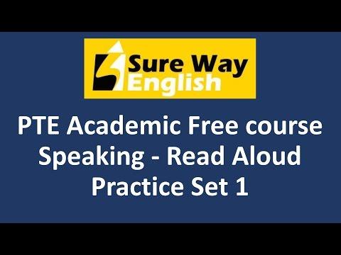 PTE Read Aloud Practice Set 1 - PTE Speaking