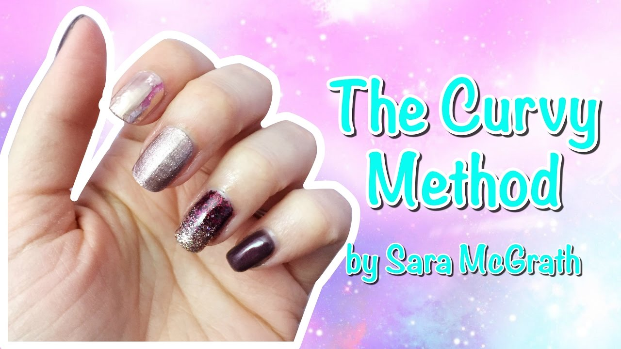 The Curvy Method - Jamberry nail wrap application - YouTube