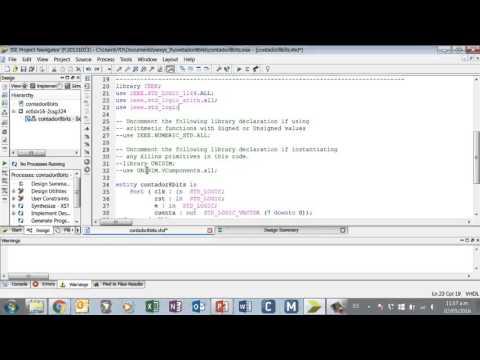 Contador 8 bits VHDL
