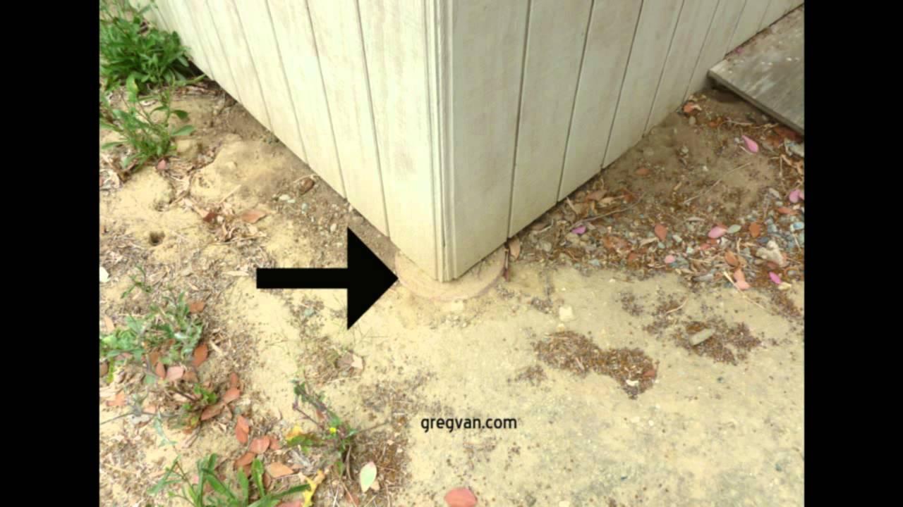 Keep Storage Sheds off the Ground  Raising Concrete