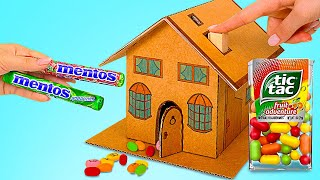DIY Tic Tac And Mentos Dispensers || How To Make Candy Dispenser From Cardboard
