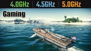 CPU 4.0GHz vs 4.5GHz vs 5.0GHz Gaming