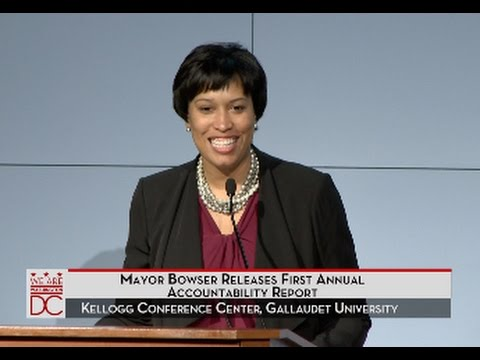 Mayor Bowser Releases 2015 Accountability Report, 1/11/16