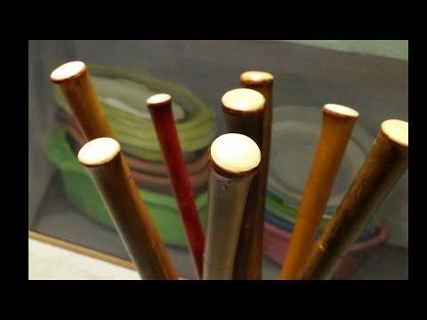 C mo fabricar bol grafos de bamb bamboo pens - Hacer boligrafos en casa ...