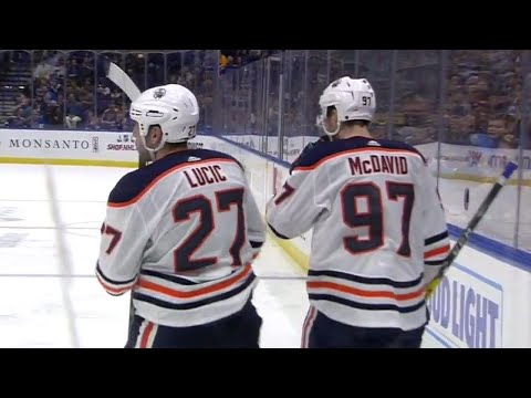 Oilers' Lucic scores thanks to slick feed from McDavid