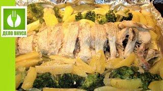 Очень вкусная Рыба Пикша с картошкой в духовке. Вкусный ужин в фольге с овощами.