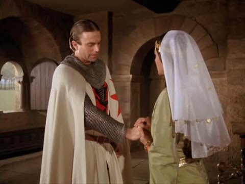 """Sam Neill and Olivia Hussey in """"Ivanhoe"""" 1982 (Brian de Bois-Guilbert and Rebecca)"""